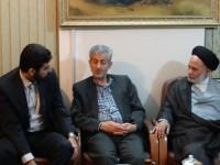 دیدار و بازدید بخشدار و سایر مسئولین بیستون از ستاد بازسازی عتبات عالیات استان