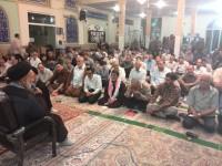 سخنرانی حجت الاسلام والمسلمین ضیغمیان با موضوع توضیح دو محور مدافعان حرم و اهمیت بازسازی عتبات عالیات در مساجد