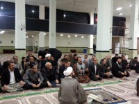 حضور ریاست ستاد در جمع مومنین و نماز گزاران مسجد الزهراء شهرک پردیس