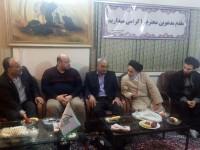 حضور خطاط ضرایح ائمه معصومین و مسئول دفتر فنی ستاد عتبات مرکز در محل ستاد کرمانشاه