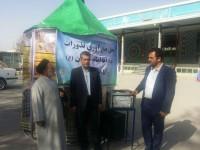 برپایی چادر جمع آوری مشارکتهای مردمی به عتبات عالیات در مسجد النبی(ص) طاقبستان در ایام نوروز